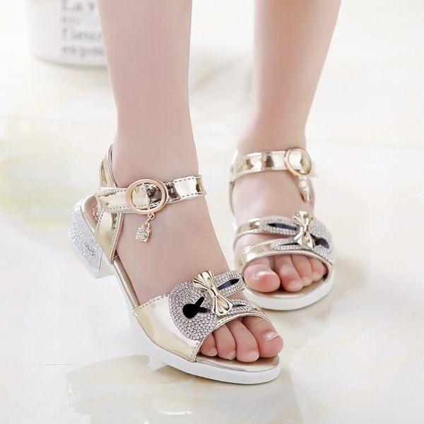 童鞋新款夏季女童涼鞋 韓版休閒公主魚嘴鞋 時尚蝴蝶結童鞋     韓小姐の衣櫥