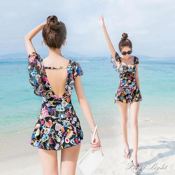 游泳衣女連身遮肚顯瘦保守2020新款韓國ins風溫泉性感仙女范泳裝 果果輕時尚
