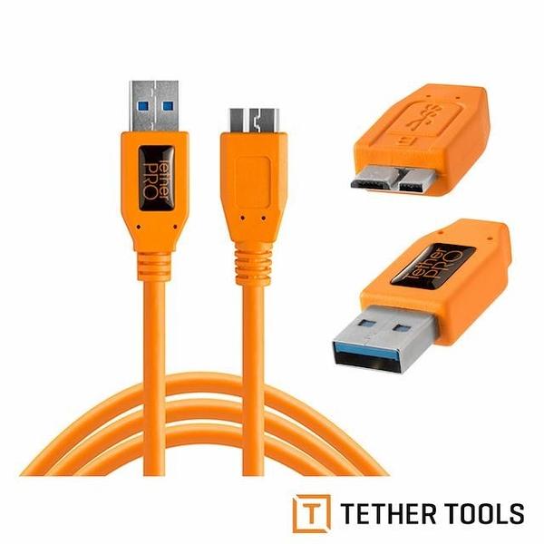 【南紡購物中心】Tether Tools CU5454 USB傳輸線A公轉Micro B