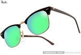 RayBan 太陽眼鏡 RB3016 114519 -51mm (霧琥珀-水銀綠) 超夯眉框水銀鏡面款 # 金橘眼鏡