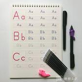 字帖 英語棒棒體字母字帖幼兒園兒童啟蒙26個大小寫英語凹槽練字帖 娜娜小屋