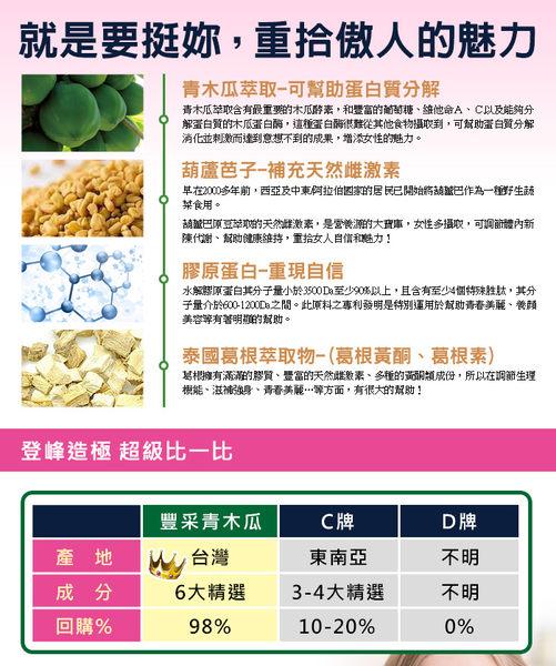 草本之家-豐采青木瓜酵素60粒(葫蘆芭子、膠原蛋白、葛根 白高顆、枸杞、紅棗)