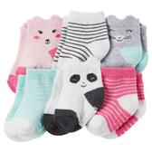 【美國Carter's】防滑嬰兒襪六雙組 - 貓咪系列 #CR03264