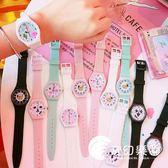 手錶-韓版新款硅膠糖果色少女粉嫩簡約手表軟萌妹學生休閑創意卡通腕表-奇幻樂園