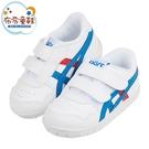 《布布童鞋》asics亞瑟士經典款TIGER白色寶寶機能學步鞋(13~16.5公分) [ J1E082M ]