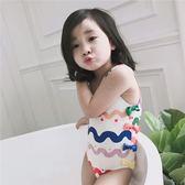 女童寶寶游泳衣連體兒童泳裝【南風小舖】