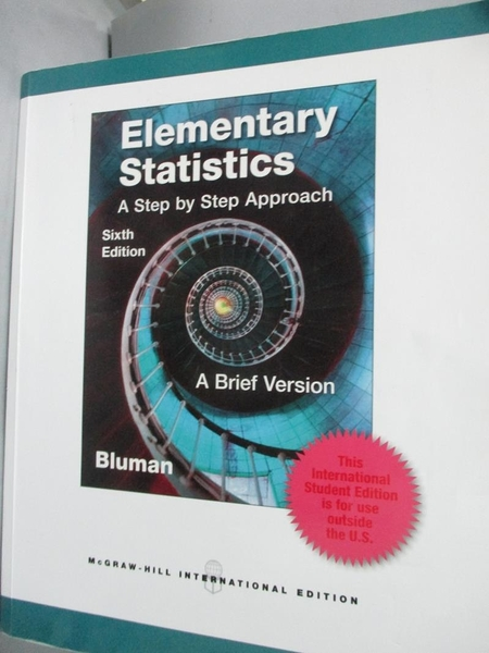 【書寶二手書T9/大學理工醫_WFI】Elementary Statistics: A Brief Version_BL