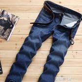 男式大碼牛仔褲 寬鬆大碼直筒修身商務牛仔褲時 露露日記