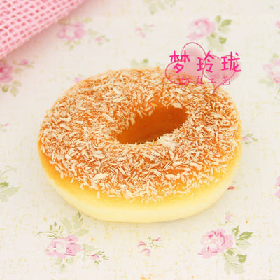 [協貿國際]仿真椰絲甜甜圈冰箱貼4入