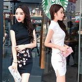 夏裝夜店性感時尚復古梅花刺繡日常改良旗袍 禮服連身裙 奇思妙想屋