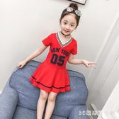 女童洋裝女童夏裝洋裝2018新款兒童棉質洋氣公主裙中大童小女孩夏季裙子 LH2364【3C環球數位館】