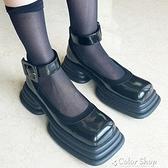 2021新款小眾設計日系瑪麗珍小皮鞋女復古方頭厚底JK軟妹春秋單鞋 快速出貨