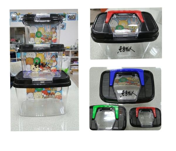 方型飼育盒【S 小型】藍 綠 紅 3種顏色隨機出貨 甲蟲 獨角仙 魚事職人