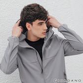【GIORDANO】男裝3M排汗抗污連帽外套-06 銀絲灰
