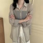 長袖襯衫 防曬衣女2020新款長袖女士襯衫設計感小眾襯衣女夏季薄款雪紡上衣 曼慕衣櫃