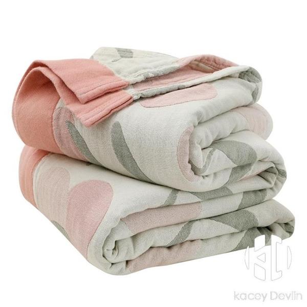 全棉紗布毛巾被純棉單人雙人蓋毯夏季薄款空調被午睡毛毯夏涼被【Kacey Devlin】