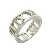 Tiffany & Co 蒂芬妮 Atlas系列 鏤空羅馬數字925純銀戒指  【BRAND OFF】