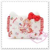♥小花花日本精品♥Hello Kitty 品牌合作聯名款化裝包收納小物包立體耳朵蝴蝶結日本限定 42217602