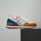 New Balance 男女 米橘 樂高配色 拼接 麂皮 復古 運動 慢跑 休閒鞋ML574DRU