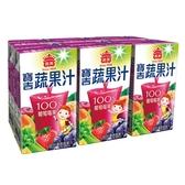 M-義美寶吉蔬果汁葡萄莓果125ml*6【愛買】
