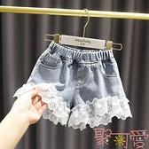 女童短褲夏外穿兒童裝洋氣夏裝小女孩薄款牛仔褲子中大童夏季熱褲【聚可愛】