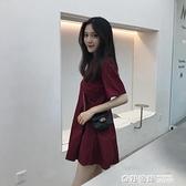 2021年新款短袖t恤女初戀法國復古小個子超仙女甜美連身裙子 奇妙商鋪
