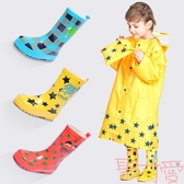 兒童雨鞋男女童防滑橡膠防水中童小孩水鞋雨靴【聚可愛】