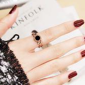 鋼戒 18K玫瑰金鈦鋼食指戒指時尚大氣個性指環飾品不掉色 巴黎春天