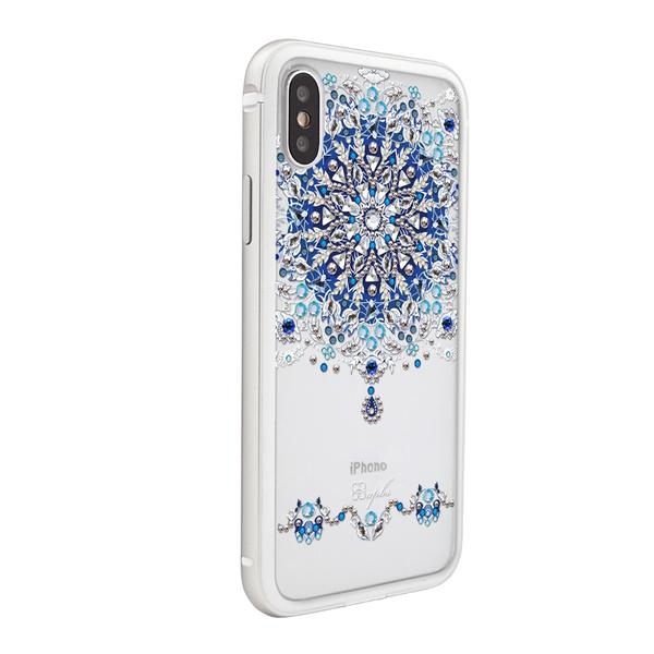 apbs iPhone Xs / iPhone X 5.8吋共用款施華彩鑽鋁合金屬框手機殼-冰雪情緣(三色可選)
