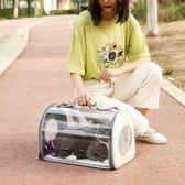 寵物外出便攜包貓包透明貓咪後背包透氣太空艙【倪醬小舖】
