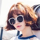時尚潮流韓版圓形偏光遮陽防紫外線墨鏡女