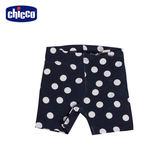 chicco-To Be Baby-內搭短褲-藍底白點