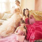 Maison de FLEUR ♡ 蕾絲珍珠荷葉邊手提包 - Maison de FLEUR