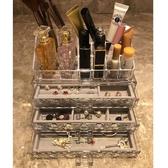 桌面透明塑料首飾盒耳環耳釘收納盒手飾小飾品化妝品口紅格收納盒 居享優品