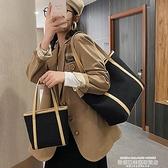 托特包 大容量側背帆布包女2021新款通勤簡約托特包復古百搭大學生上課包 新品