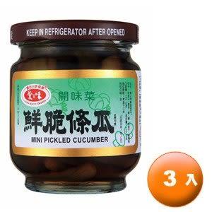 愛之味 鮮脆條瓜 玻璃罐 180g (6罐)/組