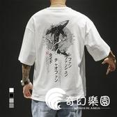 短袖T恤-新花五分休閒短袖T恤男士寬鬆圓領運動半袖-奇幻樂園