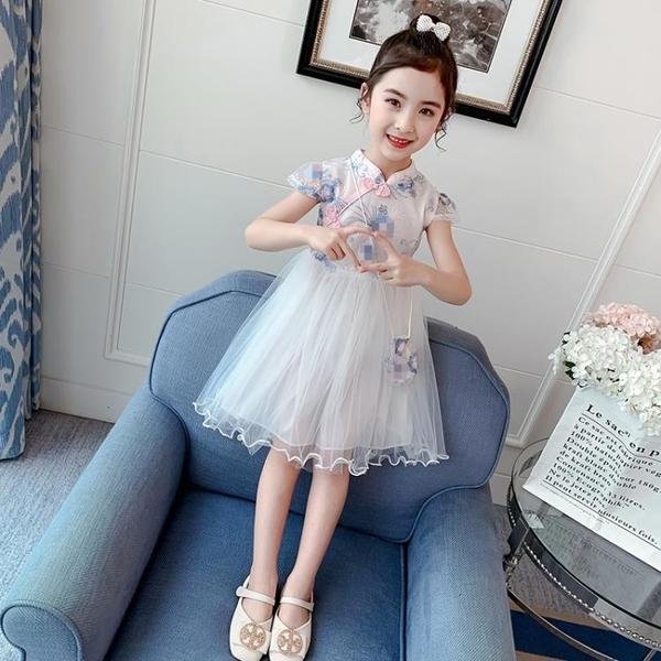 兒童連身裙 3兒童裝5小女孩子旗袍6公主裙子8女童9禮服7連身裙夏裝10夏天12歲 小宅女