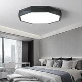 【110V】 個性led吸頂燈臥室簡約餐廳房間洗手間超薄北歐燈具黑白【YYJ-486】