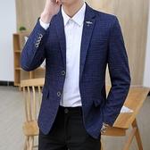 小西裝男薄款韓版修身 外套高品質休閒西服上衣 帥氣潮流秋季暗紋 黛尼時尚精品