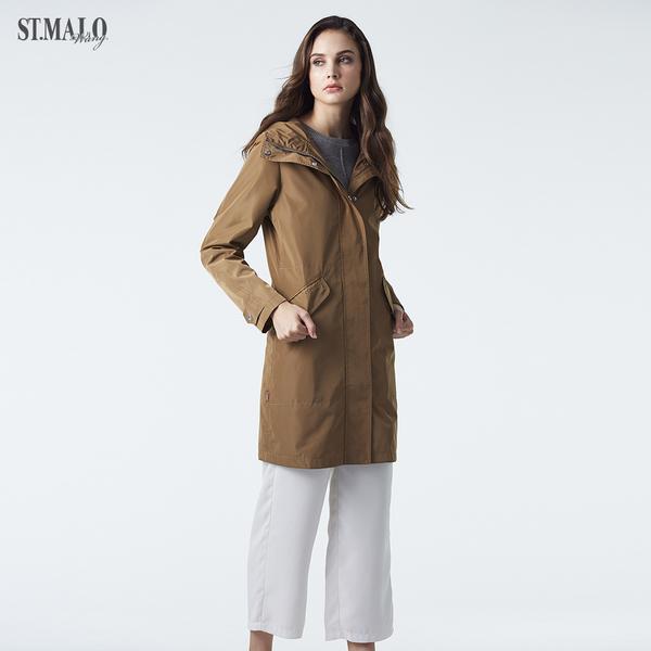 【ST.MALO】德國三防新素材派克精品大衣-1957WJ-金沙棕