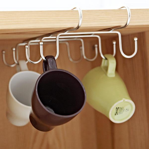 杯架【D0025】不鏽鋼吊掛層板馬克杯架 隔板掛勾/櫥櫃(8pcs) MIT台灣製收納專科