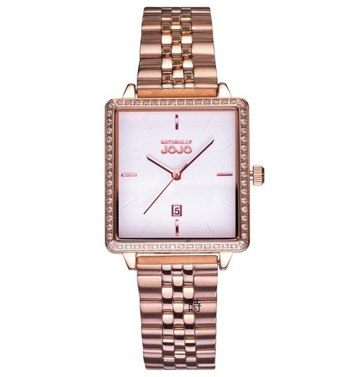 NATURALLY JOJO 極簡風方型時尚錶 JO96975-80R 禮物