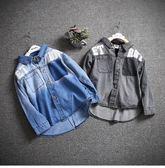 小男童牛仔襯衫長袖2018春裝新款3韓版4薄款5帥氣6兒童襯衣7潮8歲 熊貓本