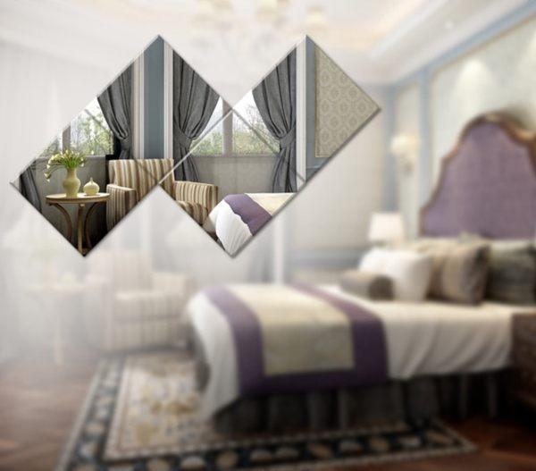 【世明國際】方塊 鏡面壁貼 環保 壓克力立體壁贴 15*15cm 鏡子壁貼 裝飾 浴室 臥室