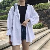 長袖襯衫春秋新款寬鬆襯衫女長袖港味學生vetiver慵懶設計感上衣 小天使