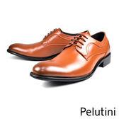 【Pelutini】經典素面紳士德比鞋  咖啡(8360-BR)