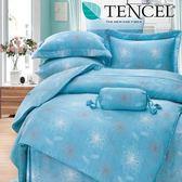 ✰特大 薄床包兩用被四件組✰ 100%純天絲《藍色海洋》