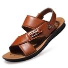 男士涼鞋男真皮新款夏季沙灘鞋
