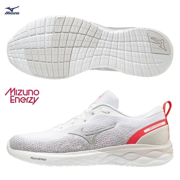 MIZUNO WAVE REVOLT 男鞋 慢跑 休閒 ENERZY中底 回彈 白【運動世界】J1GC208106